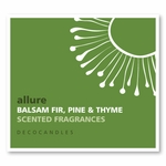 "Allure <br><font name=""Arial"" color=""#C9CFC9""size=2> balsam fir, pine & thyme"