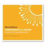 "Devotion<br><font name=""Arial"" color=""#C9CFC9""size=2>pomegranate ginger"