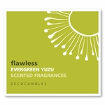 "Flawless<br><font name=""Arial"" color=""#C9CFC9""size=2>evergreen & yuzu"