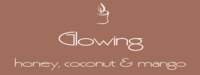 """Glowing<br><font name=""""Arial"""" color=""""#C9CFC9""""size=2>honey, coconut & mango"""