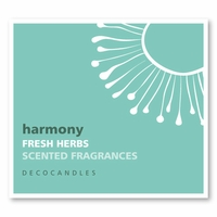 "Harmony<br><font name=""Arial"" color=""#C9CFC9""size=2>fresh herbs"