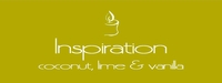 """Inspiration <br><font name=""""Arial"""" color=""""#C9CFC9""""size=2>coconut lime & vanilla"""