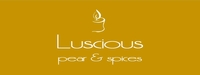"""Luscious <br><font name=""""Arial"""" color=""""#C9CFC9""""size=2>pear & spices"""