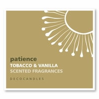 """Patience <br><font name=""""Arial"""" color=""""#C9CFC9""""size=2>tobacco vanilla"""