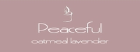 """Peaceful <br><font name=""""Arial"""" color=""""#C9CFC9""""size=2>oatmeal lavender"""