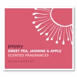 "Peppy<br><font name=""Arial"" color=""#C9CFC9""size=2>sweet pea, jasmine & apple"