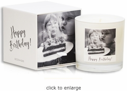 "<font name=""Arial"" color=""#df0101""size=2>""Happy Birthday!""<font name=""Arial"" color=""#848484""size=2> Personalized Jar Candle and Box"