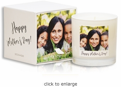 "<font name=""Arial"" color=""#df0101""size=2>""Happy Mother's Day!""<font name=""Arial"" color=""#848484""size=2> Personalized Jar Candle and Box"