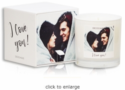 "<font name=""Arial"" color=""#df0101""size=2>""I love you""<font name=""Arial"" color=""#848484""size=2> Personalized Jar Candle and Box"