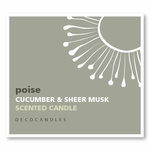 "Poise<br><font name=""Arial"" color=""#C9CFC9""size=2> cucumber & sheer musk"