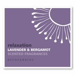 "Relaxation <br><font name=""Arial"" color=""#C9CFC9""size=2>lavender & bergamot"