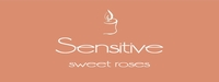 """Sensitive <br><font name=""""Arial"""" color=""""#C9CFC9""""size=2>sweet roses"""
