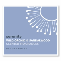 "Serenity <br><font name=""Arial"" color=""#C9CFC9""size=2>wild orchid & sandalwood"