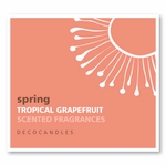 "Spring<br><font name=""Arial"" color=""#C9CFC9""size=2>tropical grapefruit"