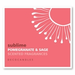 "Sublime <br><font name=""Arial"" color=""#C9CFC9""size=2>pomegranate sage"