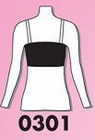Bandeau Top With Plastic Straps 0301