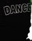 Black Cotton Rib Boybeater Top/Silver DANCE transfer/B-Boy Hip Hop