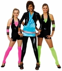 COATED NEON LYCRA PAIRED WITH BLACK PLEATHER
