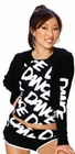 Cotton Crop Hoodie With Paint White DANCE