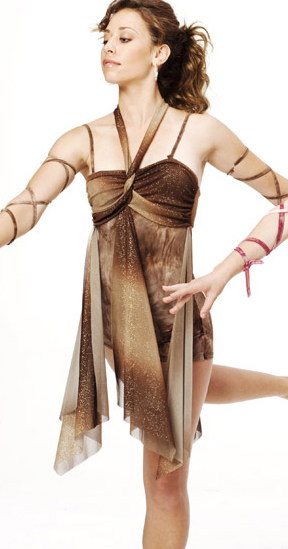 Shorty Unitard With Ombre Sheer Overlay Panels