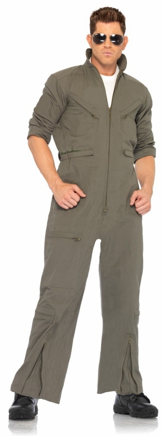 Unisex Military Olive green zipfront jumpsuit