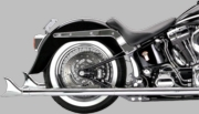 """2-1/4"""" Mufflers for Softail True Dual Crossover Headers"""