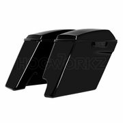 """2-Into-1 Extended 4"""" Stretched Saddlebags Harley '14-'17 Touring - Color Match"""