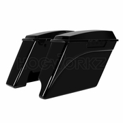 """2-Into-1 Extended 4"""" Stretched Saddlebags Harley '94-'13 Touring - Color Match"""