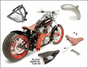 250 Bobber Wide Tire Kit for Softail Models 2000 - Present