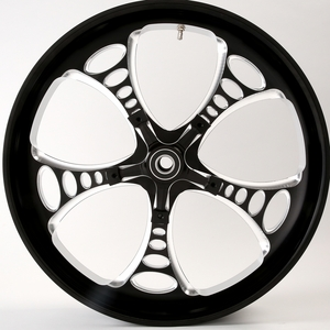 3D Black Contrast Jackpot Wheel For 14-18 Touring