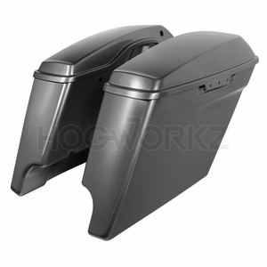 """4"""" Stretched Saddlebags for Harley '14-'17 Touring - Charcoal Pearl"""