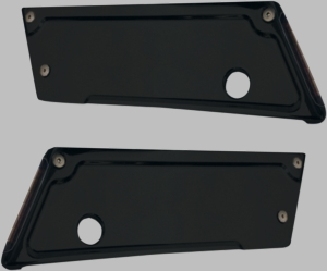 Black Anodized Lighted Latch Cover with Smoke Lens/Red LEDs