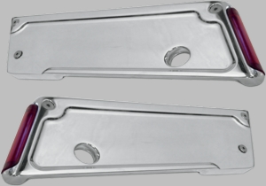 Chrome Lighted Latch Cover with Red Lens/LED