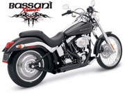 Bassani PRO-STREET BLACK Turn-out Tips For Softail