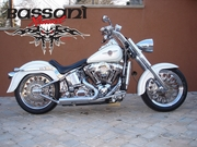 Bassani PRO-STREET Slash Cut Tips For Softail