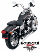 Bassani Road Rage 2 Into 1 BLACK SHORTY For Dyna