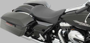 Black Pinstripe Low-Profile Solo Seat
