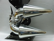 Chrome Bullet Cones with 180 Degree Slots