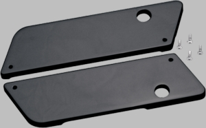 COVINGTON Smooth Latch Covers in Black