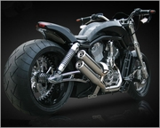 Cut-Out Billet Swingarm Kit for 330mm Tires in Machine Finish