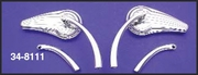 Deco Fin Mirror Set with 2 Stem Sets