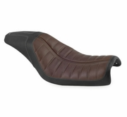 Enzo Seats 2-Up- Brown & Black