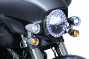 Fairing Mounted Driving Lights with Turn Signals for '14-'17 Electra Glide & Street Glide
