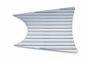 Finned Primary Accent - Chrome