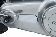 Finned Primary Inspection Cover Accent for Dyna & Softail - Chrome