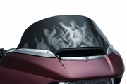 Flame Windshield For '98-'14 Road Glides