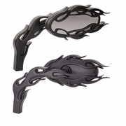 Flamed Micro Black Mirrors