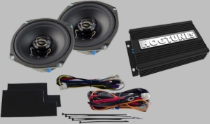"""Hogtunes 200 Watt 2-Channel Amp with 5.25"""" Front Speaker Kit for Street Glides"""