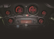 Koso North America Digital Harley Gauge Cluster with Black Bezel