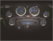 Koso Digital Harley Gauge Cluster with Polished Bezel